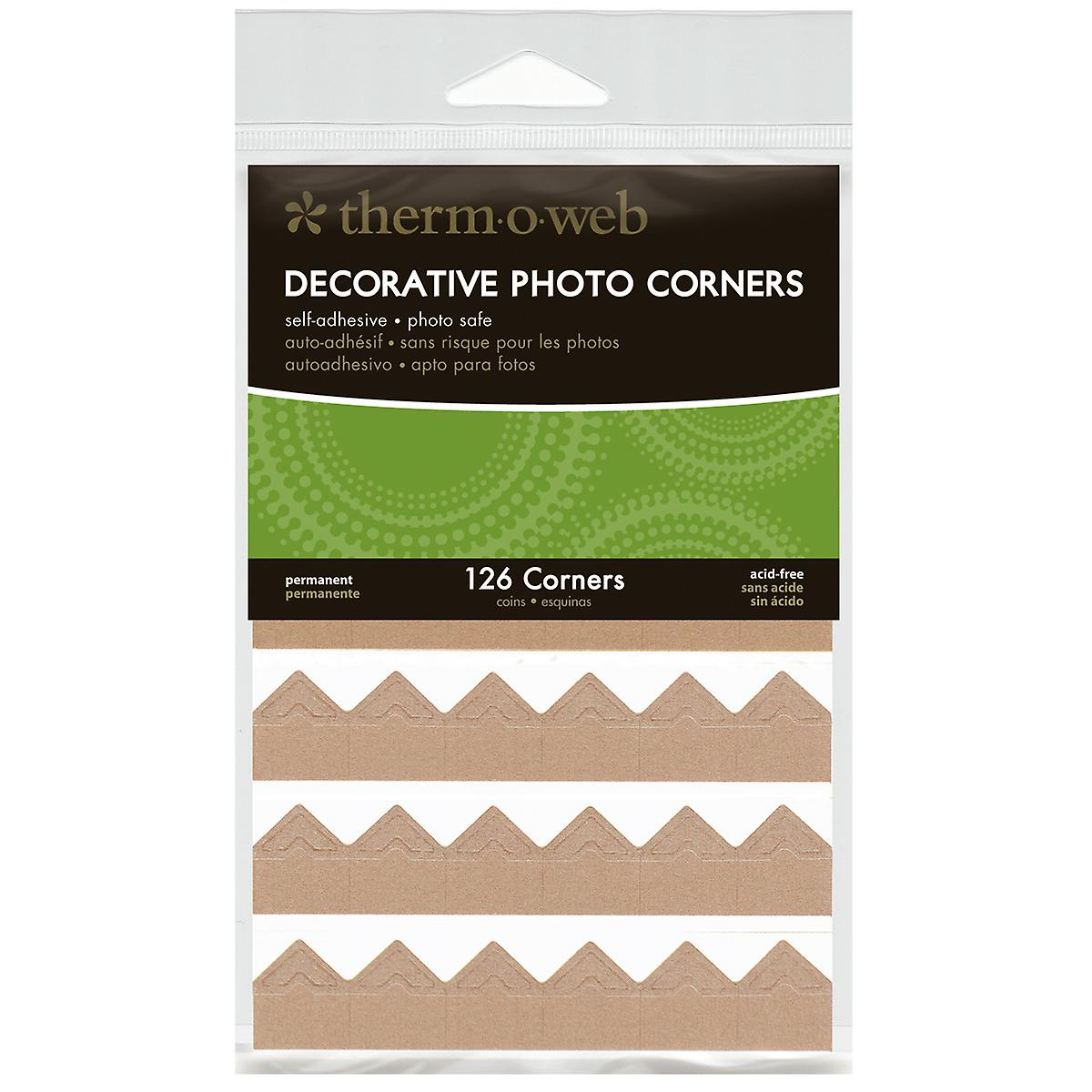 Decorative Photo Corners 126 Pkg Kraft Pcs126 3863