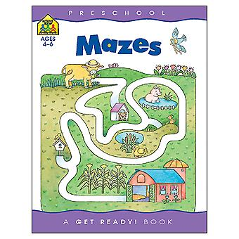 Preschool Workbooks 32 Pages Mazes Szpresch 02057
