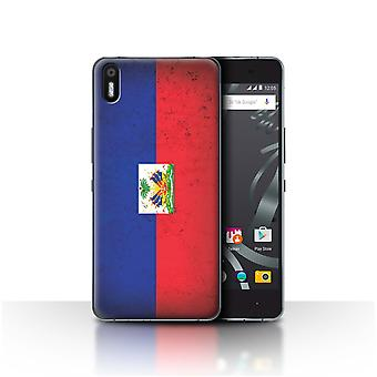 STUFF4 Case/Cover for BQ Aquaris X5/Haiti/ Haitian/Americas Flag