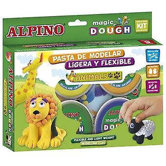 Alpino Dough Magic Animals 6 X 40 Gr.