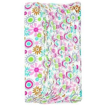 Imsevinse Washable Flowers Cotton Flannel Wipes Orgánico12 units