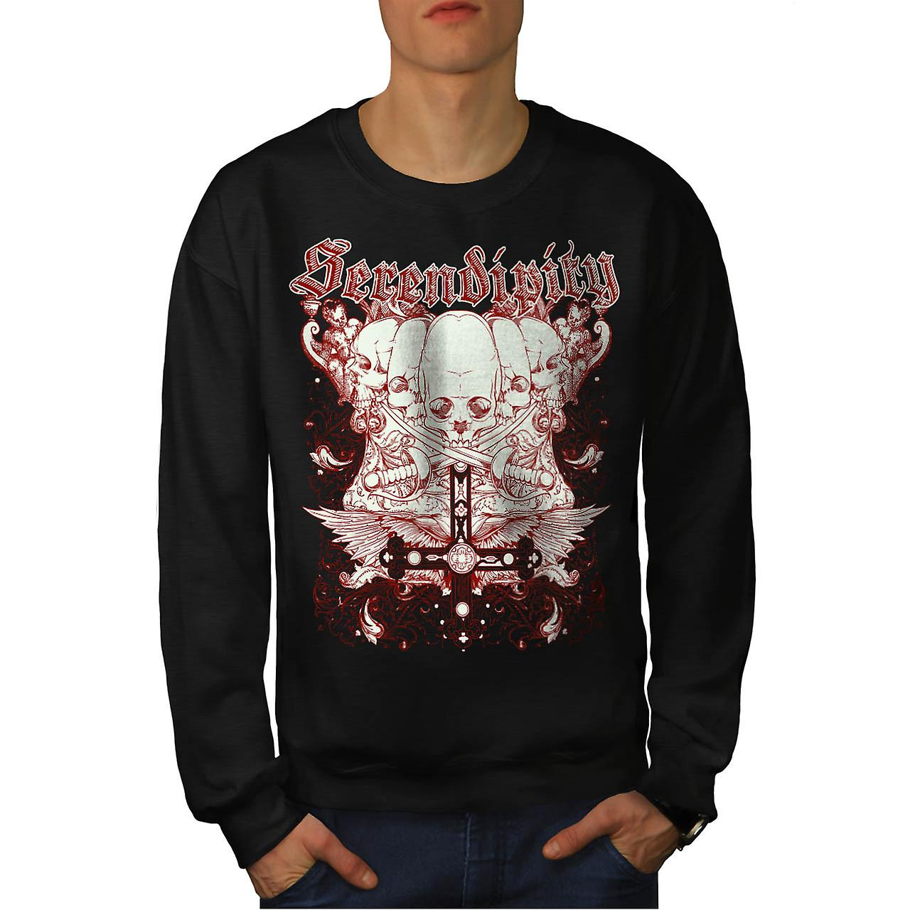 Serendipity Tombstone Grave Yard Men Black Sweatshirt | Wellcoda