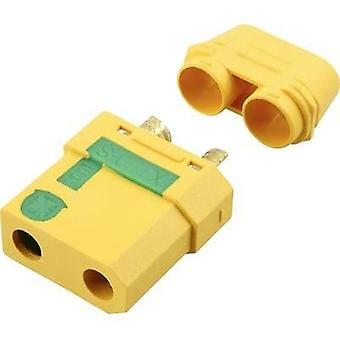 Battery receptacle XT90-S Gold-plated, Lightning protection 1 pc(s) Reely