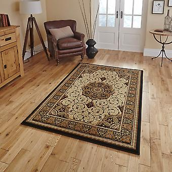Heritage 4400 Rugs In Black Cream