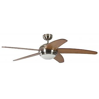 Pepeo Ceiling Fan Melton nickel finish with included remote control