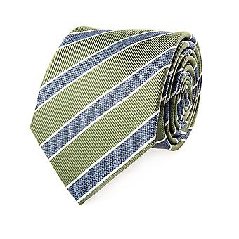 Pelo tie classic silk silk tie blue green striped 7.5 cm