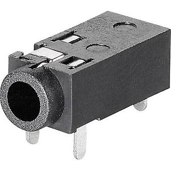 2.5 mm audio jack Socket, horizontal mount Number of pins: 4 Stereo BKL Electronic 1109200 1 pc(s)
