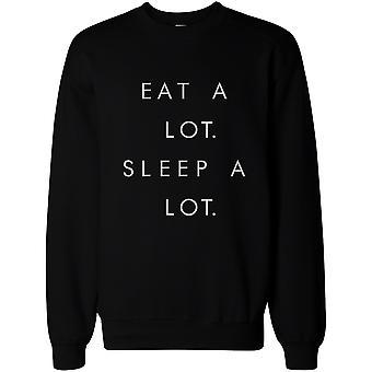 Essen Sie einem Menge Schlaf viel Pullover Pullover - Unisex Grafik Sweatshirts