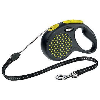 Flexi Design Cord Yellow Dot Medium 20kg - 5m (16ft)