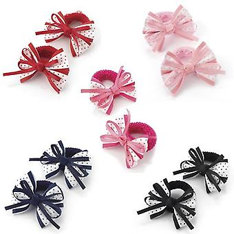 5.5cm Polka Dot Bow Hair Ponio Various Colours