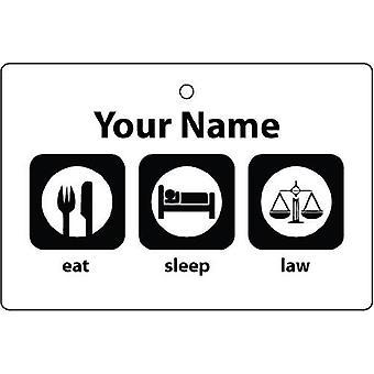 Personlig äta sova rätt bil luftfräschare