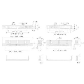 Pin strip (standard) 869 Total number of pins 10 W & P Products 369-10-10-0-60 Contact spacing: 2.54 mm 1 pc(s)
