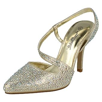 Ladies Anne Michelle Slip On Sling Back Evening Shoes