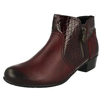 Retan las señoras tacón tobillo botas D3574