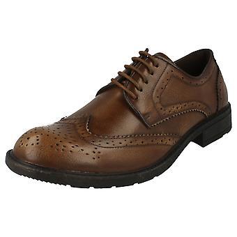 Maverick Low Heel Brogue Lace Up Shoe