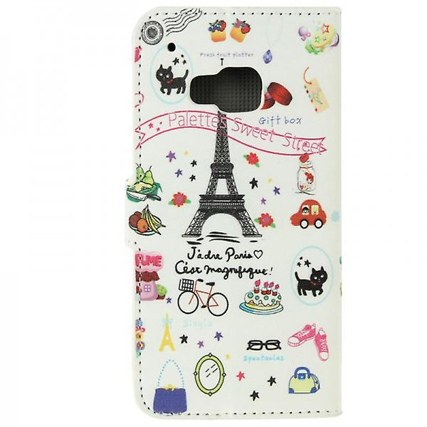 Cover wallet pattern 74 for HTC one 3 M9 2015