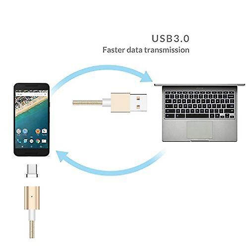 ONX3 (Rose Gold) Magnetic Micro USB Nylon Braided Fast Rapid Charging & Data Syc Transfer Cable with LED light Indicator for YU Yureka Note