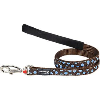 Red Dingo Strap Style Blue Spots (Dogs , Walking Accessories , Leads)