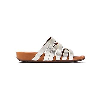 Women's Lumy Leather Slide Sandals - Pale Gold
