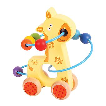 Bigjigs Toys Giraffe Push Along Bead Frame