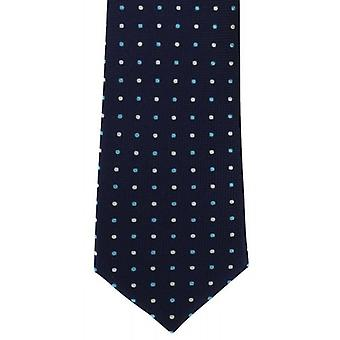 Michelsons London Multi Spot Silk Tie - Marine/Petrol