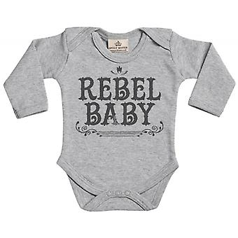 Spoilt Rotten Rebel Baby Long Sleeve Organic Baby Grow