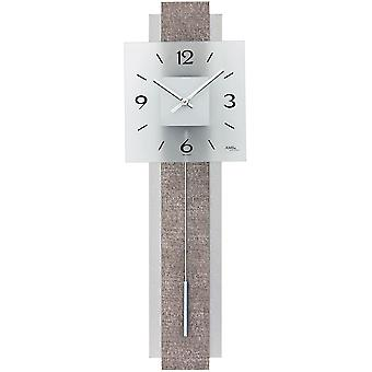Quartz wall clock wall clock with pendulum quartz design synthetic leather on wood rear wall