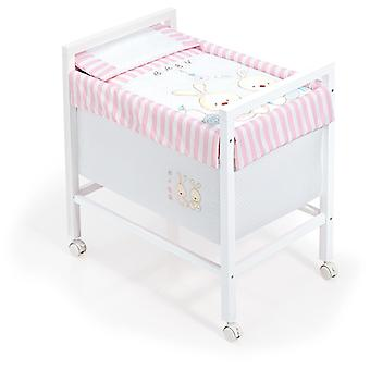 Interbaby Model Square Rabbit Baby Crib Rosa