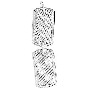 Premium Bling - 925 sterling silver Doube dog tag pendant