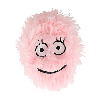 Children's 6 Inch Inflatable Pink Smiley Funny Face Furry Ball With Eyes