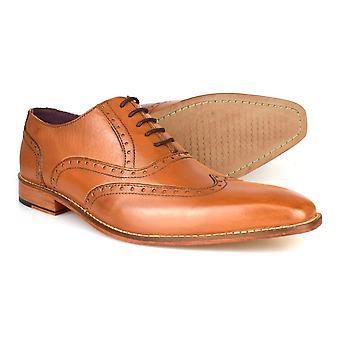 Gucinari Rothstein Tan læder formelle Brogue sko AMP-20