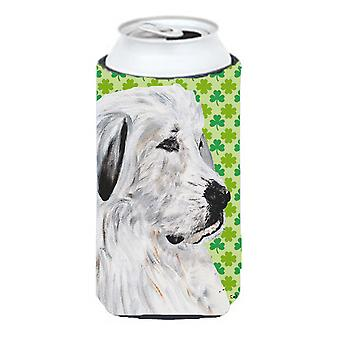 Great Pyrenees Lucky Shamrock St. Patrick's Day Tall Boy Beverage Insulator Hugg