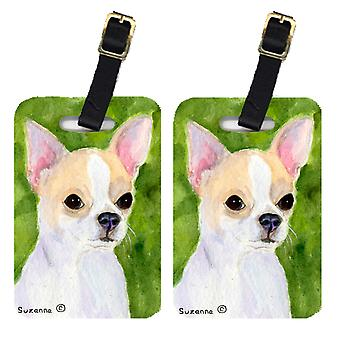 Carolines Treasures  SS8786BT Pair of 2 Chihuahua Luggage Tags
