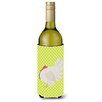 White Holland Turkey Green Wine Bottle Beverge Insulator Hugger