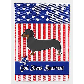 Carolines tesori BB3282CHF USA bassotto patriottica bandiera tela dimensione casa