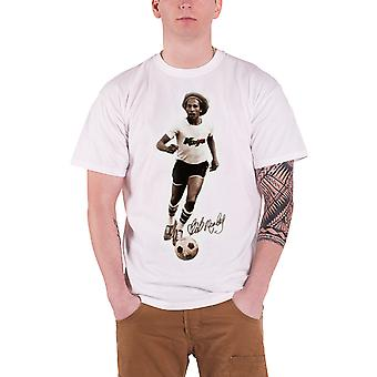 Bob Marley T Shirt Bobby Sepia Football Picture Logo Official Mens New White