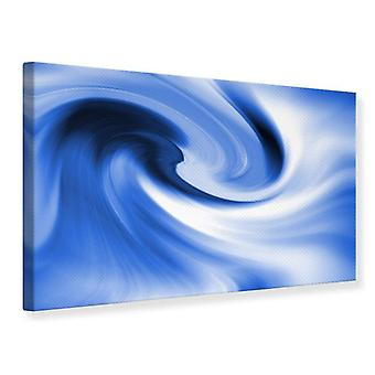 Canvas Print Abstract Blue Wave
