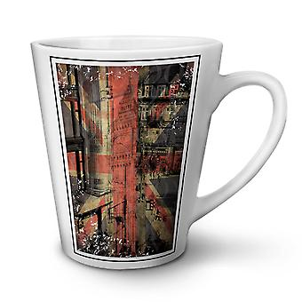 London City England NEW White Tea Coffee Ceramic Latte Mug 17 oz | Wellcoda