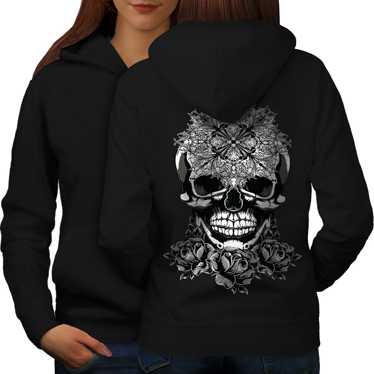Satan mal la tête en arrière de noirHoodie Skull femmes