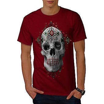 Bloem suiker Rock schedel mannen RedT-shirt | Wellcoda