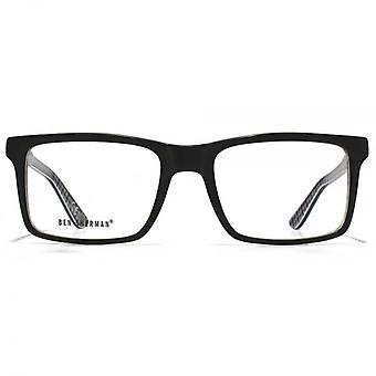 Animal Evans Combination Rectangle Glasses In Black & Blue