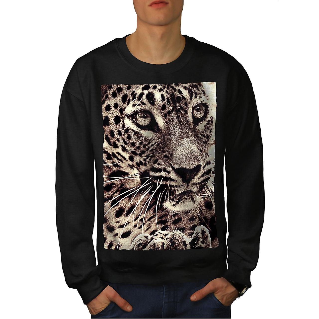 Tigre Face Photo hommes noirSweatshirt