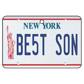 New York - Best Son License Plate Car Air Freshener