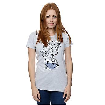 Disney Женская футболка замороженных Эльза эскиз