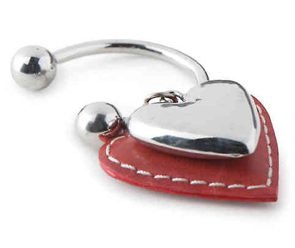 Red Open Loop Heart Keyring