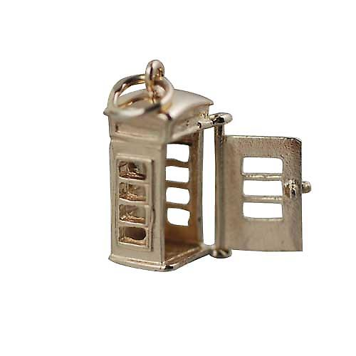 9ct Gold-18x8mm Öffnen phonebox Charm