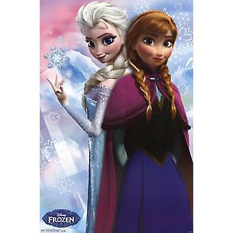 Замороженные - Анна & Эльза Плакат Печать