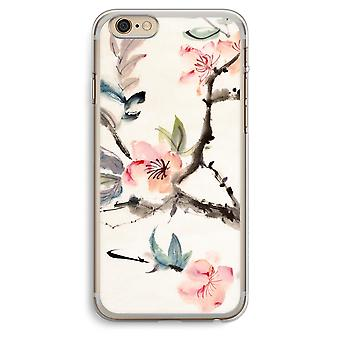 iPhone 6 Plus / 6S Plus Transparent Case - Japenese flowers