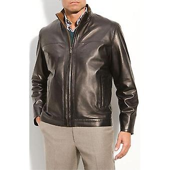 Mens Classic rechte Zip Lambskin Leather Jacket