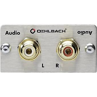RCA stereo (R/L) Multimedia inset + gender changer Oehlbach PRO